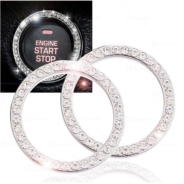 2 PCS Diamond Boot Ring for Cars