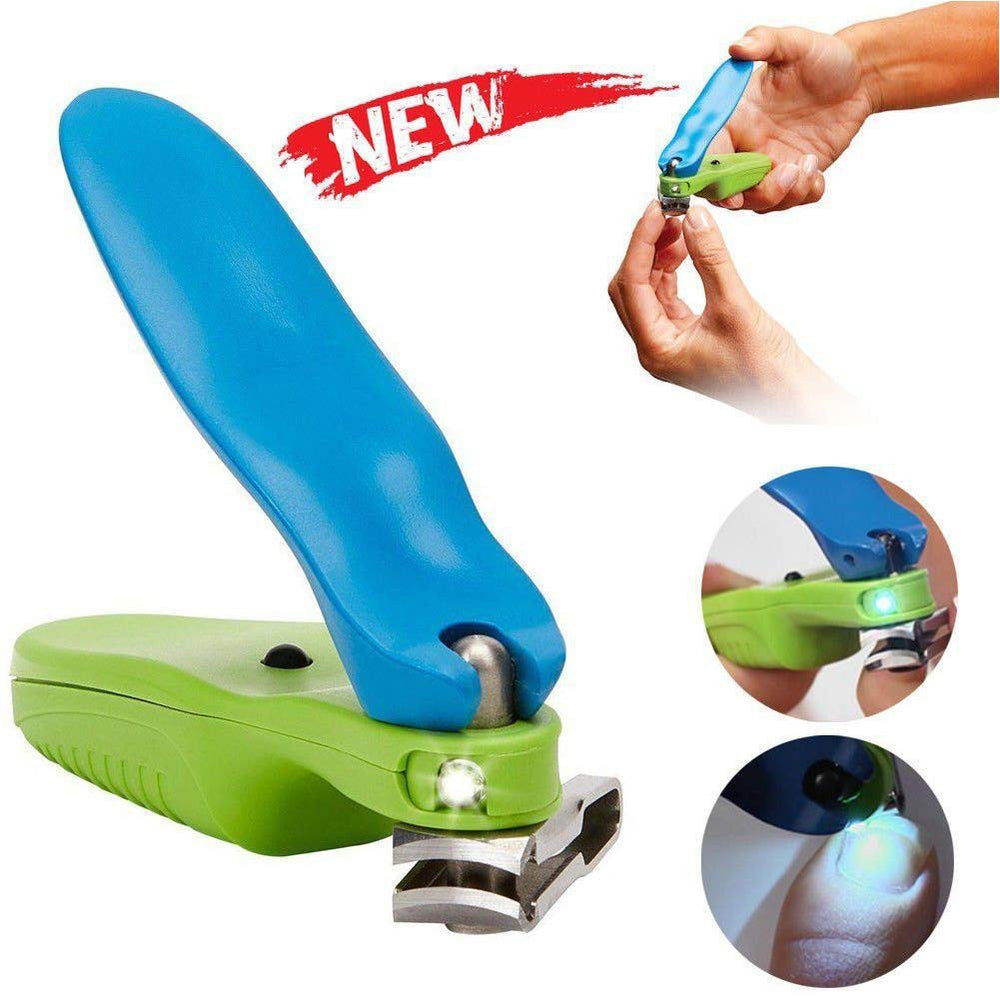 Handle 150 Degree Swivel Nail Clipper with LED Light As Seen on TV