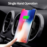 10W Fast QI Wireless Charger Car Mount Vent Charging Holder Stand