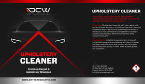 Dirty Cars Wanted Upholstery Cleaner (TRADE)
