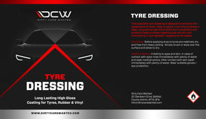Dirty Cars Wanted Tyre Dressing