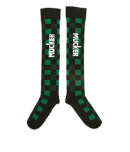 Load image into Gallery viewer, MUCKER KNEE HIGH SOCKS Green Checkered