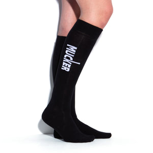 MUCKER KNEE HIGH SOCKS Black