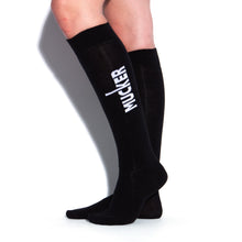 Load image into Gallery viewer, MUCKER KNEE HIGH SOCKS Black