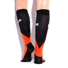 Load image into Gallery viewer, MUCKER KNEE HIGH SOCKS OrangeBlack