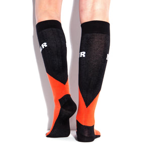 MUCKER KNEE HIGH SOCKS OrangeBlack