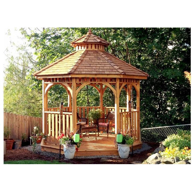 Outdoor Living Today BAYSIDE10 10 ft Bayside Octagon Gazebo- Panelized  (Includes 2 Tier Cupola)