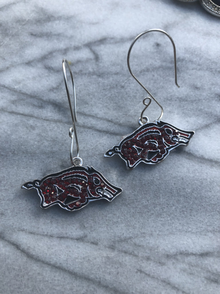 Arkansas Razorback Earrings