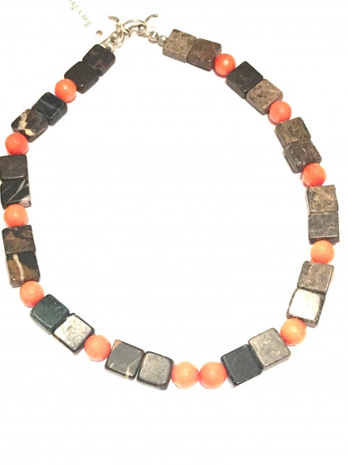 Carnelian and natural Jasper necklace