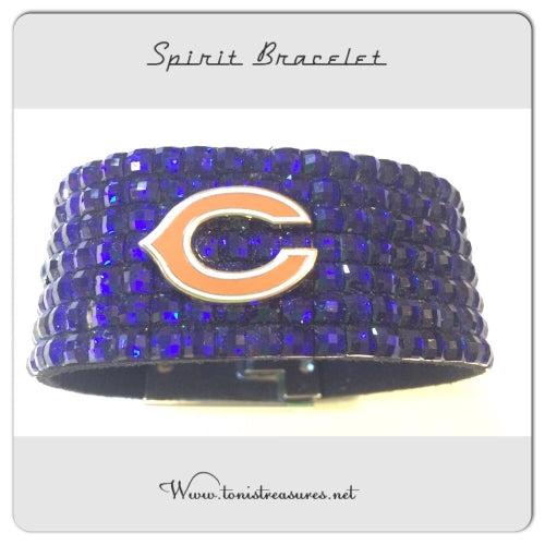 Chicago Bears Glam Spirit Bracelet