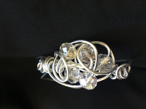 Crystal wire wrapped bracelet