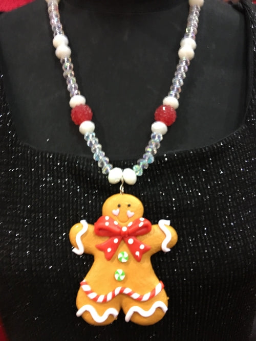 Gingerbread Red Necklace