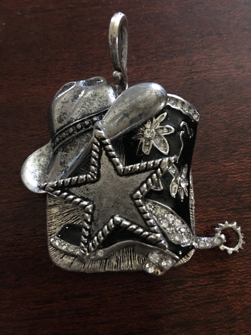 Handcrafted western pendant