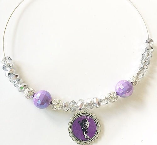 Jefferson Davis Silver & Purple Spirit Necklace