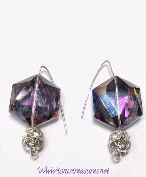 Multi Color Rhinestone Earrings