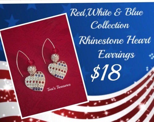 Red, White& Blue Earring Collection