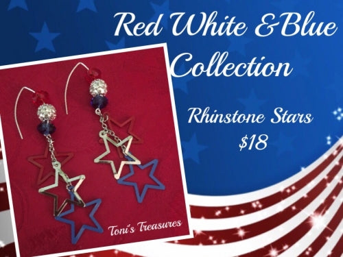 Red,White & Blue Earring Collection