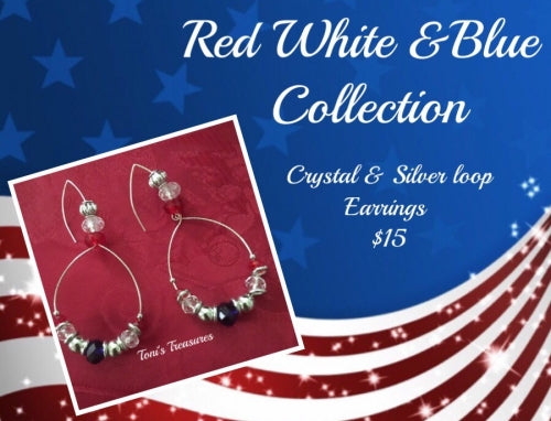 Red White & Blue Earring Collecton