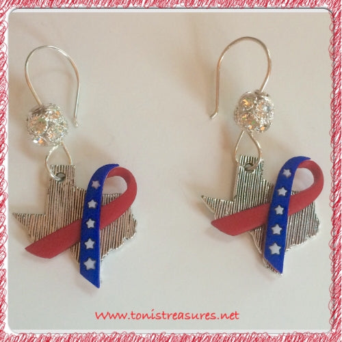 Texas Freedom Earrings