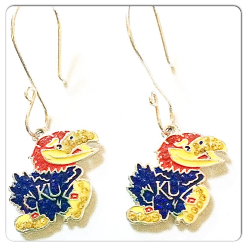 University of Kansas Earrings