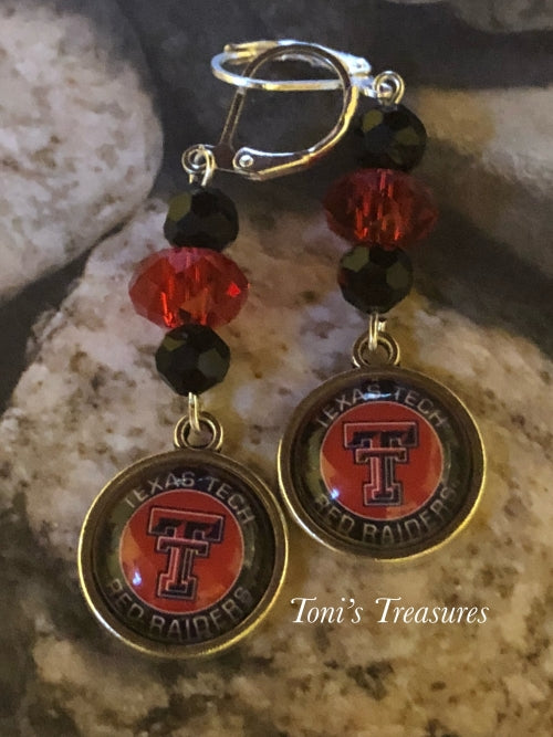 Texas Teach School spirit earrings
