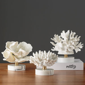 Mediterranean White Coral Resin  Decoration Crafts