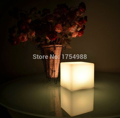 Rechargeable 30CM Led Cube/Led Cube Seat/Led Glow Cube StoolsLight Bar Stool Color Changeable