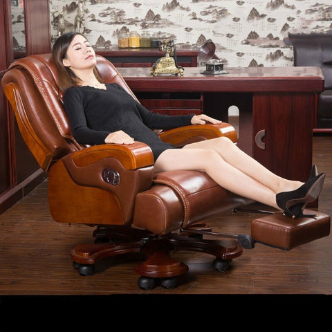 High quality leather home computer chair rotating luxurious office chair comfortable