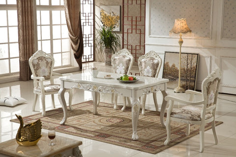 Furniture Design  Antique Wooden  French Style Dinning Table