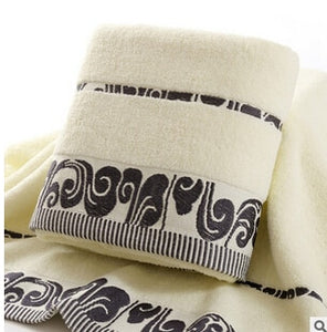 100% Cotton Bath Towel Golden Embroidered  70x140cm Towels