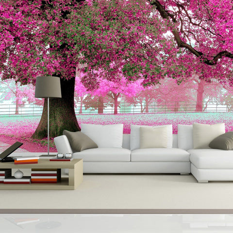 Custom Photo Wall Paper 3D Romantic Cherry Tree  Wallpaper Decor Living Room
