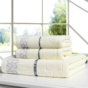 2pcs 33*75cm face towels bathroom towel sets