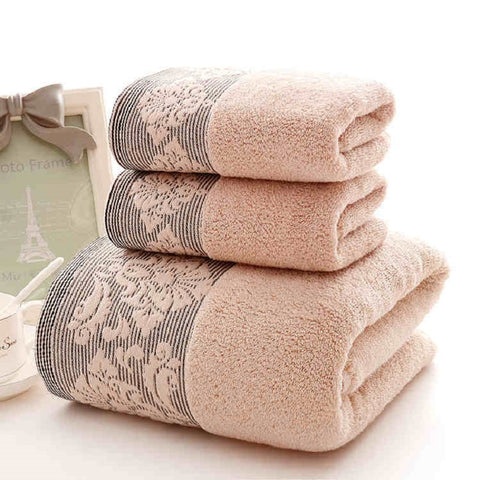 #3cs / Set 100% Cotton Jacquard Bath Face Towel Set Bathroom