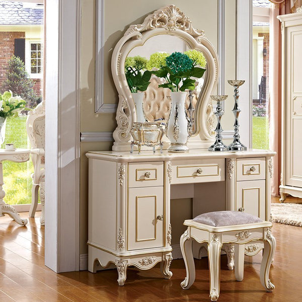 European Style  Stool,dressing Table Set With Chair