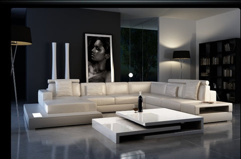 Modern leather sofa living room furniture sofa