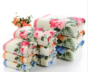 Floral Pattern Cotton Bath Towels for Adults,Beach Terry Bath Towels Bathroom,Flower Bath Towel,Serviette de Bain