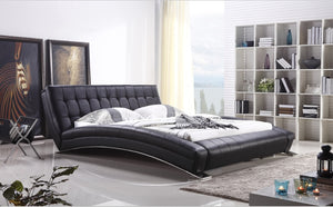 Modern bedroom furniture King bed furniture Bedroom furniture with long sheet stainless steel leg Leather