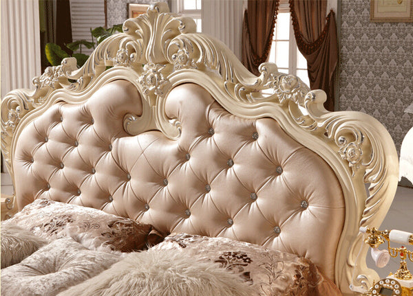 Double bed design luxury home used king size soft bed