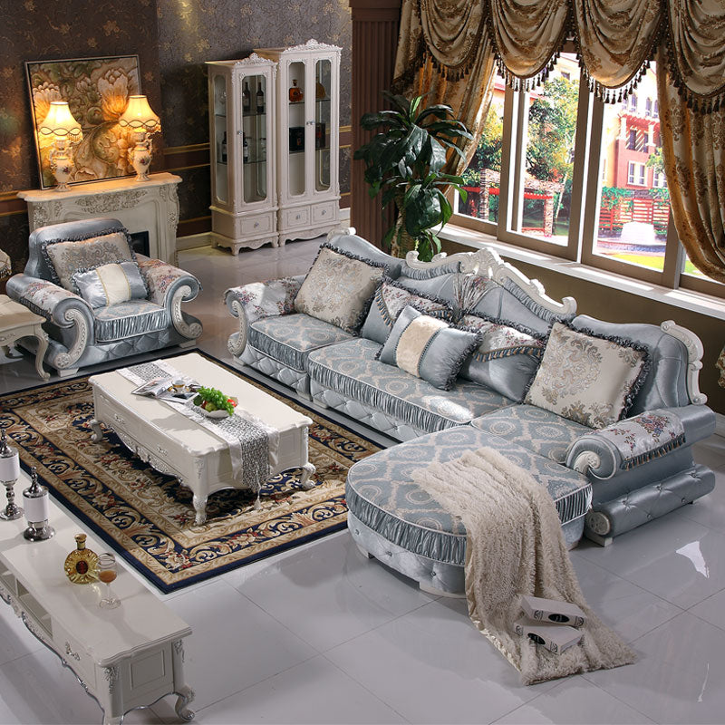 Living room  European  sectional sofa set  in high quality fabric