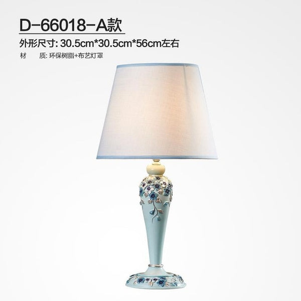 Pastoral Fashion Creative Hand Carved Resin Led E27 Table Lamp