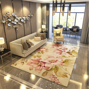 Large Pastoral Style Modern Soft Carpet For Living Room