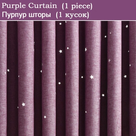Modern Hollow Star Faux Linen Blackout Curtains for Living Room Bedroom Curtains Window Curtains for the Bedroom Custom Made