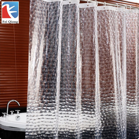 Waterproof Shower Curtain  For The Bathroom  High Quality Bath Bathing Sheer For Home Decoration