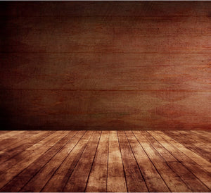 Indian Red Wood Planks Wall Hard Wooden Floor Custom Photography