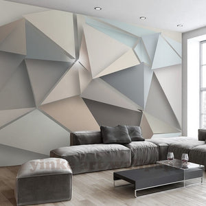 Custom Photo Wallpaper 3D stereoscopic triangle wallpapers modern
