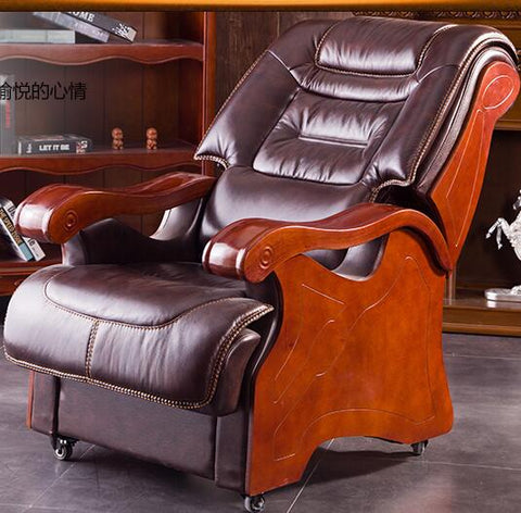 Boss chair. Real leather chair.