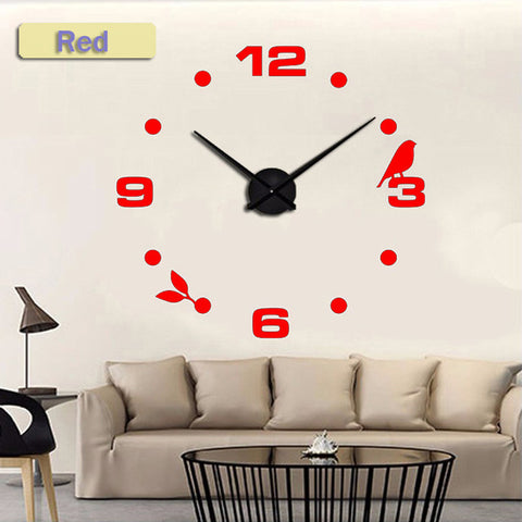Muhsein Factory  Modern Black Cat Bird Quartz Wall Clocks Home Decor