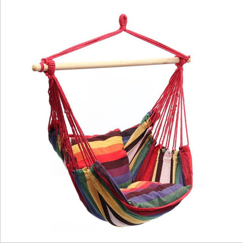 Garden  Swinging Hanging Chair Indoor Outdoor Furniture Hammocks Thick Canvas2 Pillows Hammock Camping