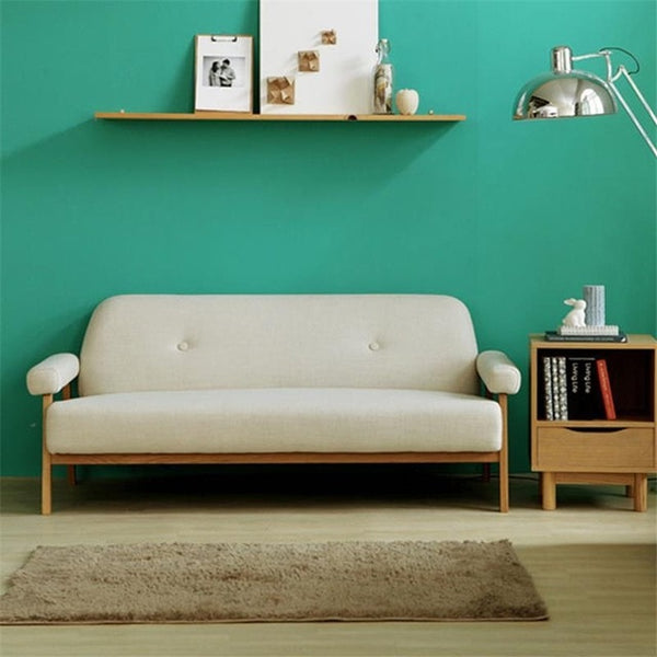 Sectional Wooden Retro Set Living Room