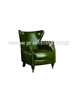 Chair New Classical European American Leather Sofa Chair